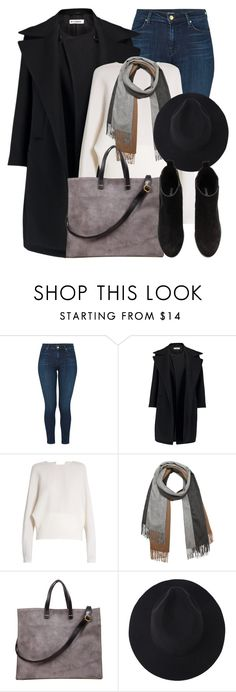 """""""Winter Look"""" by mimicdesign ❤ liked on Polyvore featuring J Brand, Jil Sander, Carl Kapp, donni charm, H&M, black, gray and winterlook"""