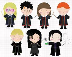 Film Inspired Harry Potter Wizard War Digital CLIP by Digicute, $5.00