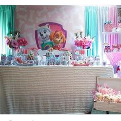 #mulpix I know my girls love paw patrol - so it's nice to see a girly paw patrol party - by @avrelle_ in Melbourne who also created the backdrops and favour boxes and supplied the props.