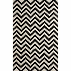 nuLOOM Hand-tufted Spectrum Black Chevron Wool Rug (8'3 x 11'3) | Overstock.com Shopping - The Best Deals on 7x9 - 10x14 Rugs