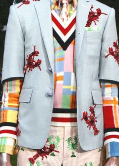 patternprints journal: HISTERICAL PRINTS AND PATTERN IN S/S 2013 MAN COLLECTION BY THOM BROWNE