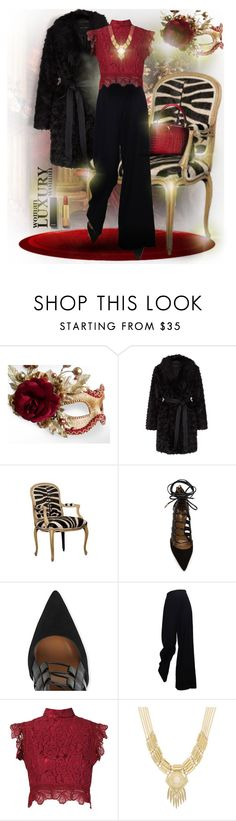 Cropped Faux Fur Coats by falticska-cerasella on Polyvore featuring moda, Martha Medeiros, The Row, Masquerade, Aquazzura, Sparkling Sage, Chanel, women's clothing, women's fashion and women