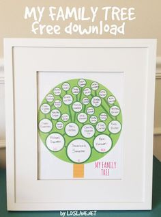 Sugardoodle.net: Printable Family Tree {Boy and Girl Versions} by Kari of