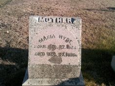 Wonder if she was named after Eva Marie Dragoon Hyde - born 1871 died 1937