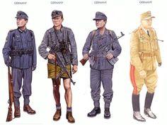 World War II Uniforms - Germany - 1940, Norway Germany - 1941, Africa Korps Germany - 1945, Eastern Front Germany - 1943 August, Gen. Lt. Hans Hube; Sicily.