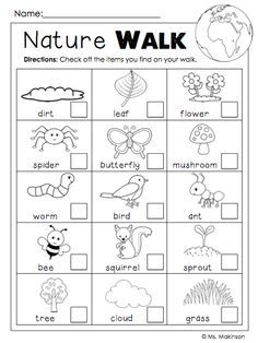 FREE Earth Day Printables - Nature Walk Scavenger Hunt have one partner cross off and other partner take pictures with iPad Earth Day Activities, Nature Activities, Toddler Activities, Earth Day Worksheets, Spring Activities, Kids Printable Activities, Outdoor Activities For Preschoolers, Kindergarten Checklist, Summer School Activities