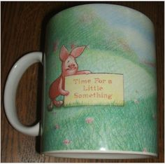 Disney Simply Pooh Piglet Time For A Little Something Winnie The Pooh Coffee Mug.  Disney Simply Pooh Piglet Time For A Little Something Winnie The Pooh Coffee Mug. Perfect for hot chocolate, coffee, tea, or other favorite hot beverage, this Disney Simply Pooh cup will delight Pooh and Piglet lovers, Disney fans and Mug collectors alike.  $24.95 or Make Offer.  Free U.S. Shipping.