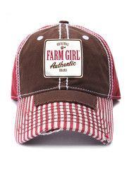 $19.99 New Farm Girl Cap  http://thecrazyheifer.com/ball-caps/farm-girl-striped-patch-cap/