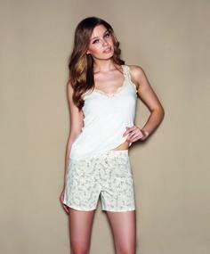 Pijama camiseta blanca Talking phone