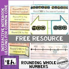 Halloween rounding math game in a candy theme can be used as review rounding 4th grade interactive math notebook nbt freebie fandeluxe Image collections