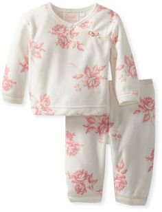 Amazon.com: Coccoli Baby-Girls Velour Floral 2 Piece: Clothing