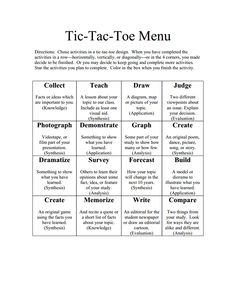 Template challenge list menuc learning menus and choice tictactoe menu bloomsc pronofoot35fo Choice Image