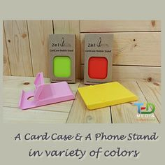 2-in-1 Card Case and Phone Stand