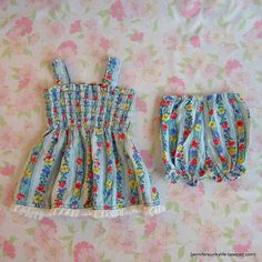 Toddler's Sundress and Bloomers Set. Willow Moon Vintage on Etsy.