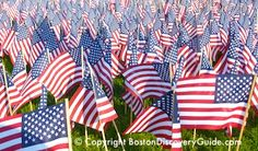 Garden of Flags on Boston Common - Memorial Day weekend