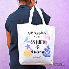 Tote Bag Bolso Playa Vagalume Designs Verano es un Estado de Ánimo