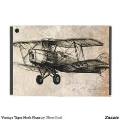 Vintage Tiger Moth Plane Case For iPad Mini