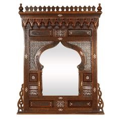 1stdibs.com | Large Middle Eastern Syrian Mirror Inlaid with Mother of Pearl $4500