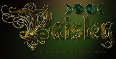 Photoshop Style – Paisley #Photoshop #Layers #Effects #Text #Design