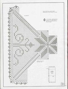 Magic Crochet Nº 42 - Edivana - Picasa Web Albums Crochet Bedspread Pattern, Crochet Motif Patterns, Filet Crochet Charts, Crochet Squares, Crochet Granny, Crochet Designs, Crochet Doilies, Crochet Pillow Cases, Crochet Cushions