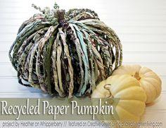 Make Recycled Paper Pumpkins - what a cute idea!