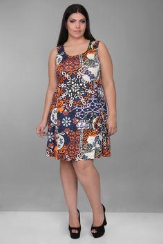 Vestido Malha Plus Size