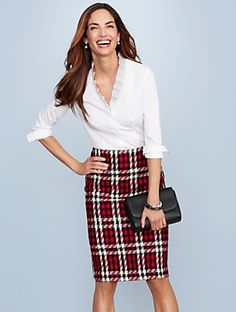 Talbots - Merry Plaid Pencil Skirt | | Discover your new look at Talbots. Shop our Merry Plaid Pencil Skirt for stylish clothing and accessories with a modern twist at Talbots