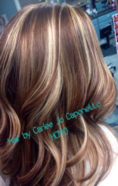 Red Amp Blonde Highlights Hair Ideas Pinterest Red
