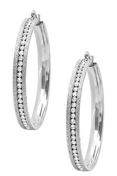 Glitter Simulated Diamond Hoop Earrings.  Oooooo Me likey!!