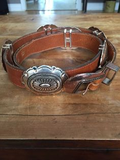 Nocona Leather Western Belt Brown w/ Bone/Silver/Brass-Tone Beads Leather Belts, Brown Leather, Concho Belt, Western Belts, Selling On Ebay, Women's Accessories, Westerns, Bones, Silver
