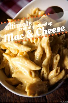 Ultimate Creamy Stovetop Mac and Cheese Recipe // PasstheSushi.com