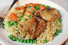 15.9k33350916After a long weekend of baking and cooking and grilling this recipe will delight you with it's ease and quick cleanup! Chicken thighs baked in brown rice with chicken stock, butter and carrots bake up into a fluffy rice casserole. Right when you take it out of the oven you pour on some frozen peas...Read More »