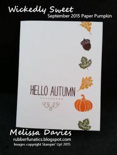 Stampin' Up! September 2015 My Paper Pumpkin - Wickedly Sweet - by Melissa Davies @rubberfunatics #rubberfunatics #stampinup