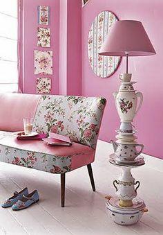 Pink w/ Teacups & Teapots