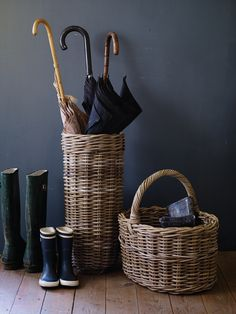 Rattan Shopper NEW - Hallway - NEW IN 2014  Ideal for those brollies from April showers    #coxandcox  #spring