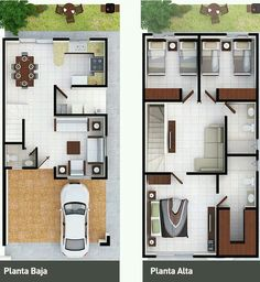Perfect for my dream home. only few enhancement for gallery. Dream House Plans, Modern House Plans, Small House Plans, House Floor Plans, Layouts Casa, House Layouts, Narrow House, Sims House, Home Design Plans