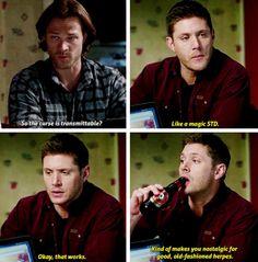 11x13 Love Hurts [gifset] - Like a magic STD - Sam and Dean Winchester; Supernatural