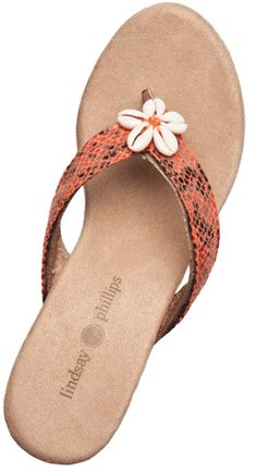Lindsay Phillips Switch Flops-love the cork