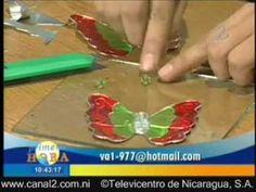 Repujado en Metal, elaboración de mariposas para árbol de Navidad