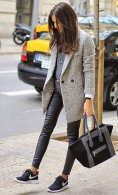 Street-Style-Sporty-Tenis-Grey-Bag
