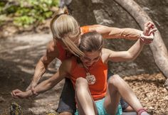 Climber Robyn Erbesfield-Raboutou and her daughter Brooke Raboutou .....those arms