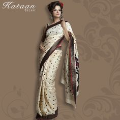 Fawn Color Polyester Saree