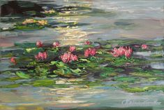 Margaret Raven - Paintings for Sale Pond Painting, Lotus Painting, Lily Painting, Painting & Drawing, Impressionist Paintings, Landscape Paintings, Monet, Beautiful Paintings, Painting Inspiration