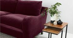 Rosamund 3 Seater Sofa, Merlot Velvet | made.com