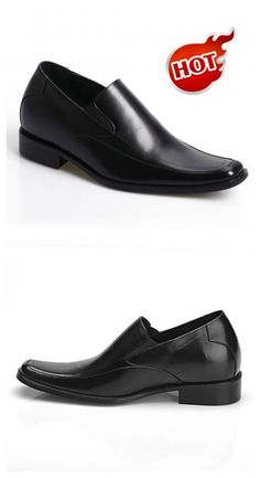 e278b81a446 Hot Sale Formal Business Men Dress Black Loafers Soft Cow Leather Elevator  Shoes