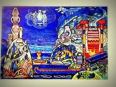 """Застава КОрт Айки контролировала пути на Верхней Вычегде. Здесь на картине Игнатова. отоборжен момент """"КОрт Айка требует дань (выкуп) от предводителя Коми язычников Пам сотника."""