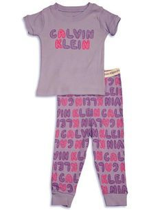 Calvin Klein – Infant Girls Short Sleeve Pajamas, « Clothing Impulse