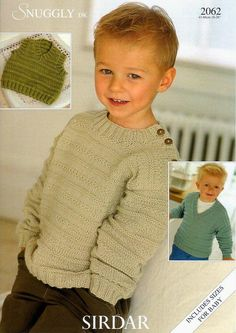 Sweaters and Slipover in Sirdar Snuggly DK - Discover more Patterns by Sirdar Snuggly at LoveKnitting. The world's largest range of knitting supplies - we stock patterns, yarn, needles and books from all of your favourite brands. Sirdar Knitting Patterns, Knit Patterns, Weaving Patterns, Knitting For Kids, Free Knitting, Knitting Books, Baby Bamboo, Knitting Supplies, Boys Sweaters