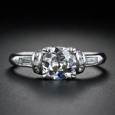 .64 Carat Diamond and Platinum Art Deco Engagement Ring