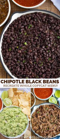 Chipotle Black Beans (Copycat) recipe with chili powder, cumin, lemon and lime. - Chipotle Black Beans (Copycat) recipe with chili powder, cumin, lemon and lime is an easy recipe - Chipotle Mexican Grill, Chipotle Black Beans, Chipotle Guacamole, Mexican Black Beans, Black Bean Tacos, Mexican Breakfast Recipes, Mexican Food Recipes, Vegetarian Recipes, Cooking Recipes